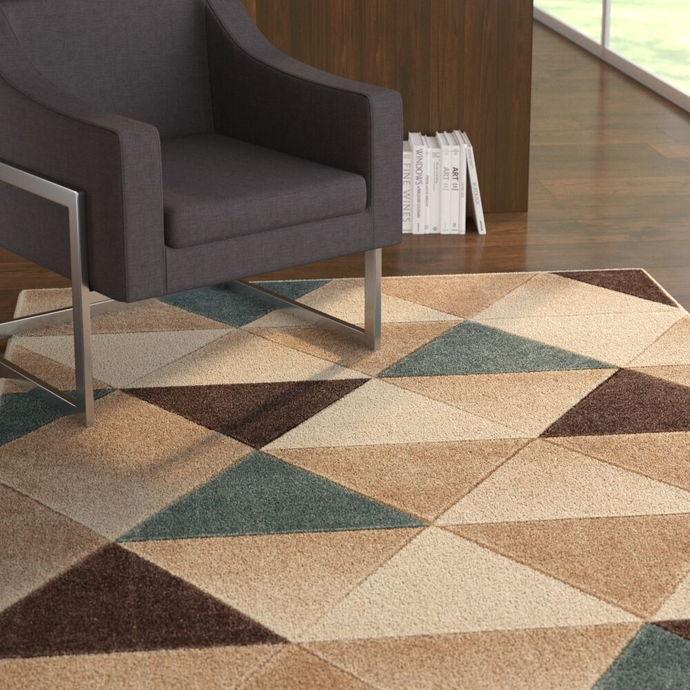 Herring Brown Area Area Rug Rug Size: Rectangle 2' x 3'