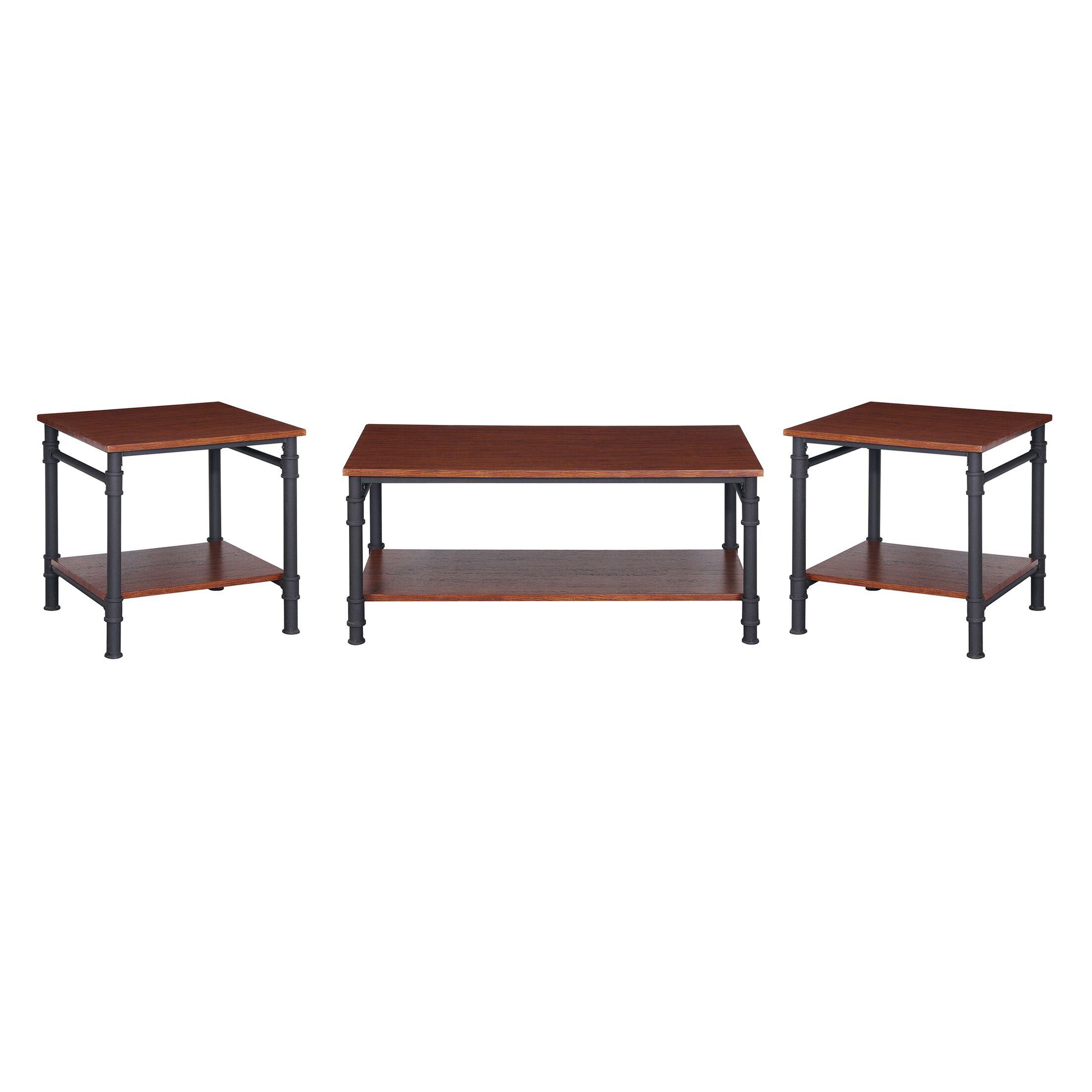 Bealeton Faux Wood 3 Piece Coffee Table Set