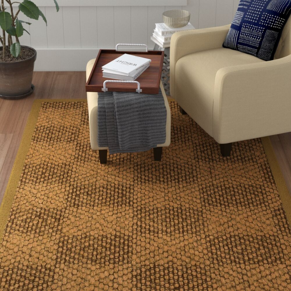 Hearne Hand Woven Brown Area Rug Rug Size: Rectangle 4' X 6'