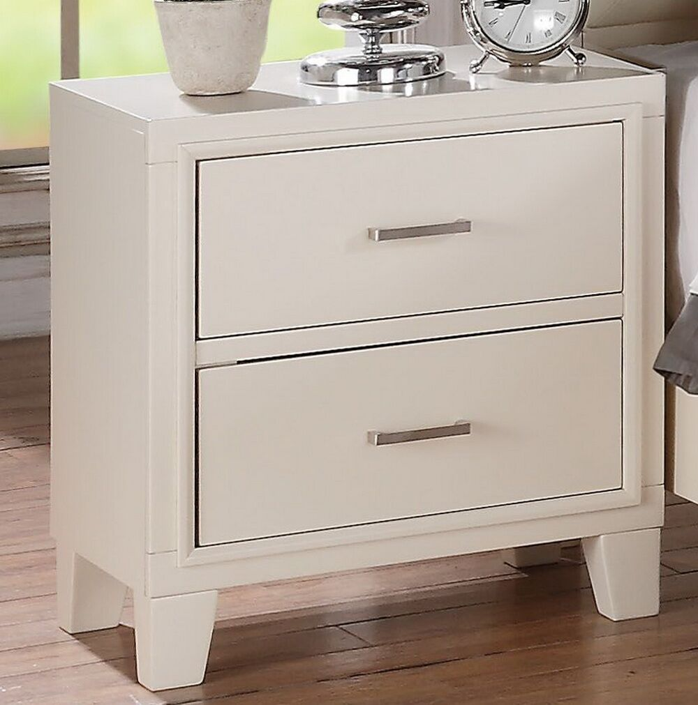 Saint 2 Drawer Nightstand Color: White