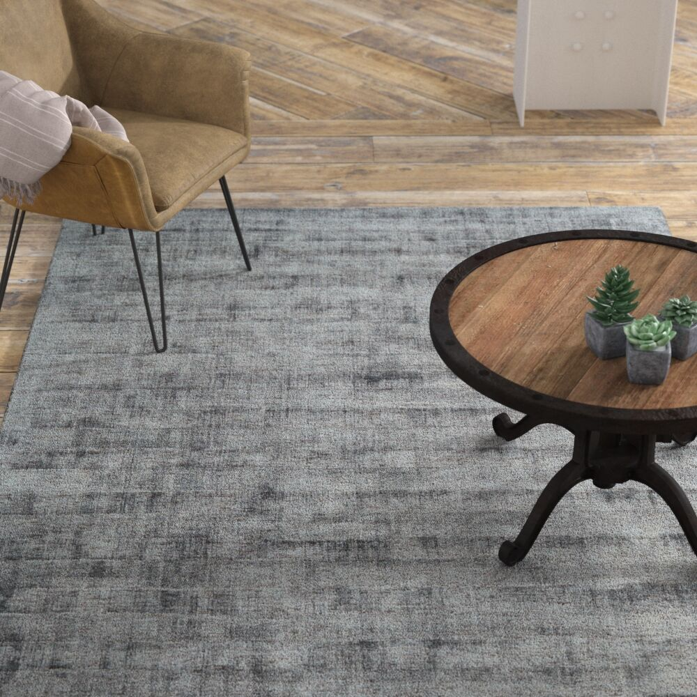 Shonta Hand-Knotted Gray Area Rug Rug Size: Runner 2'6