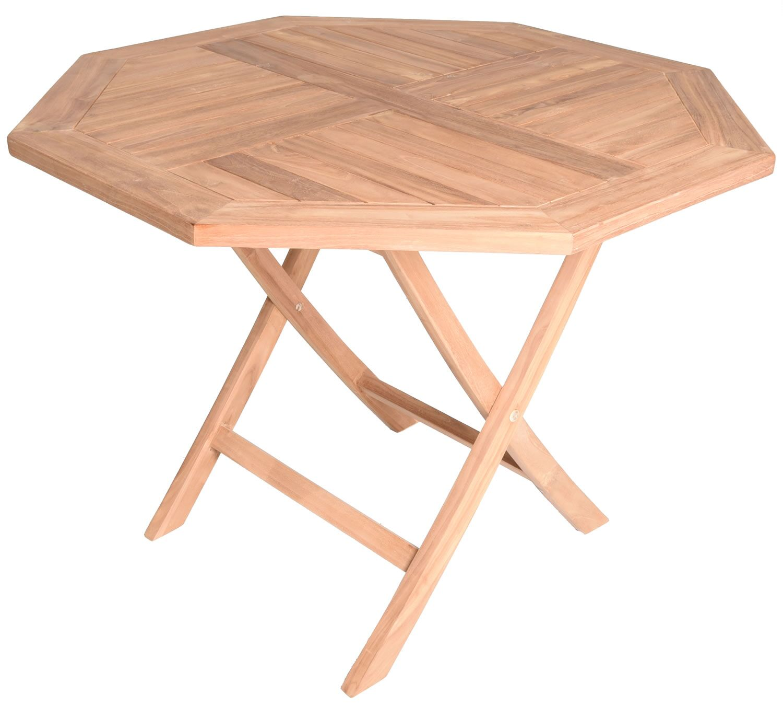 Cosmo Octagonal Folding Teak Dining Table
