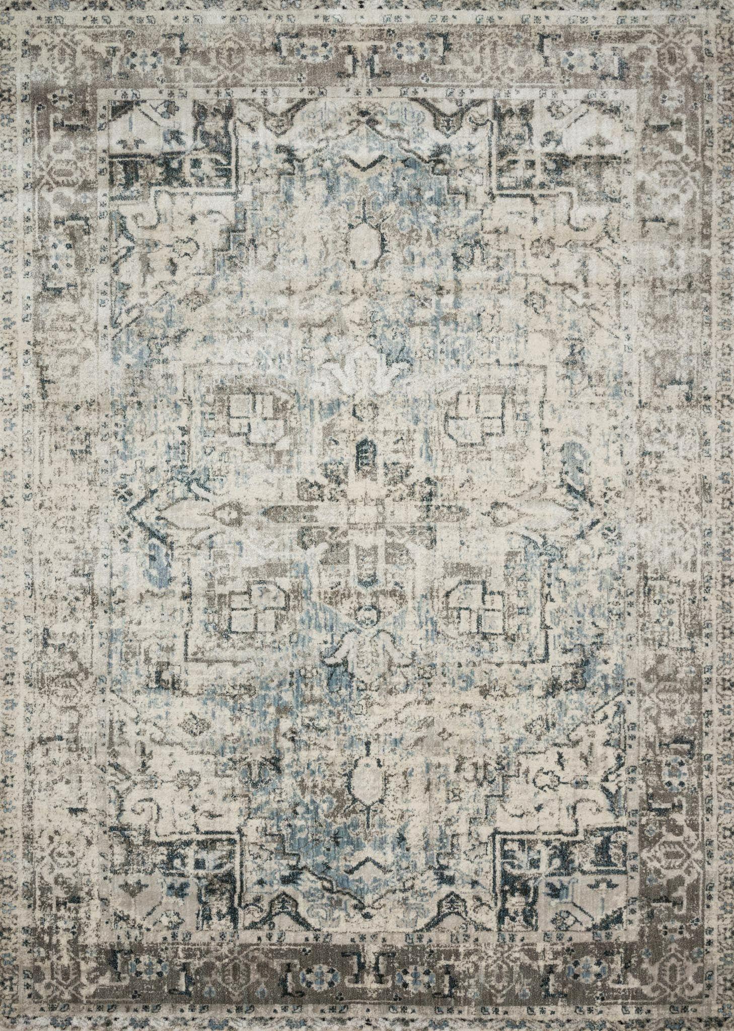 Stovall Blue/Slate Area Rug Rug Size: Rectangle 5'3