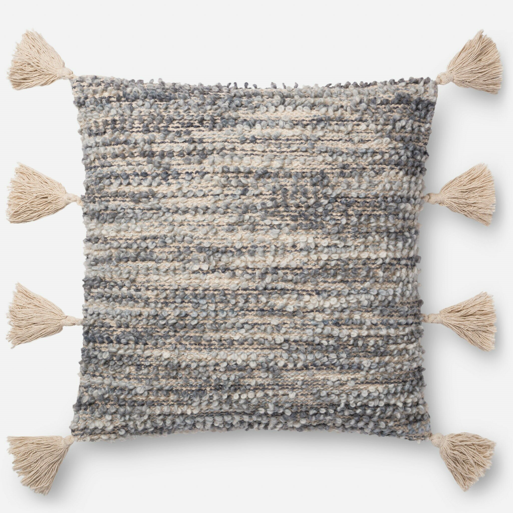 Stone Pillow Fill Material: Down/Feather, Color: Gray