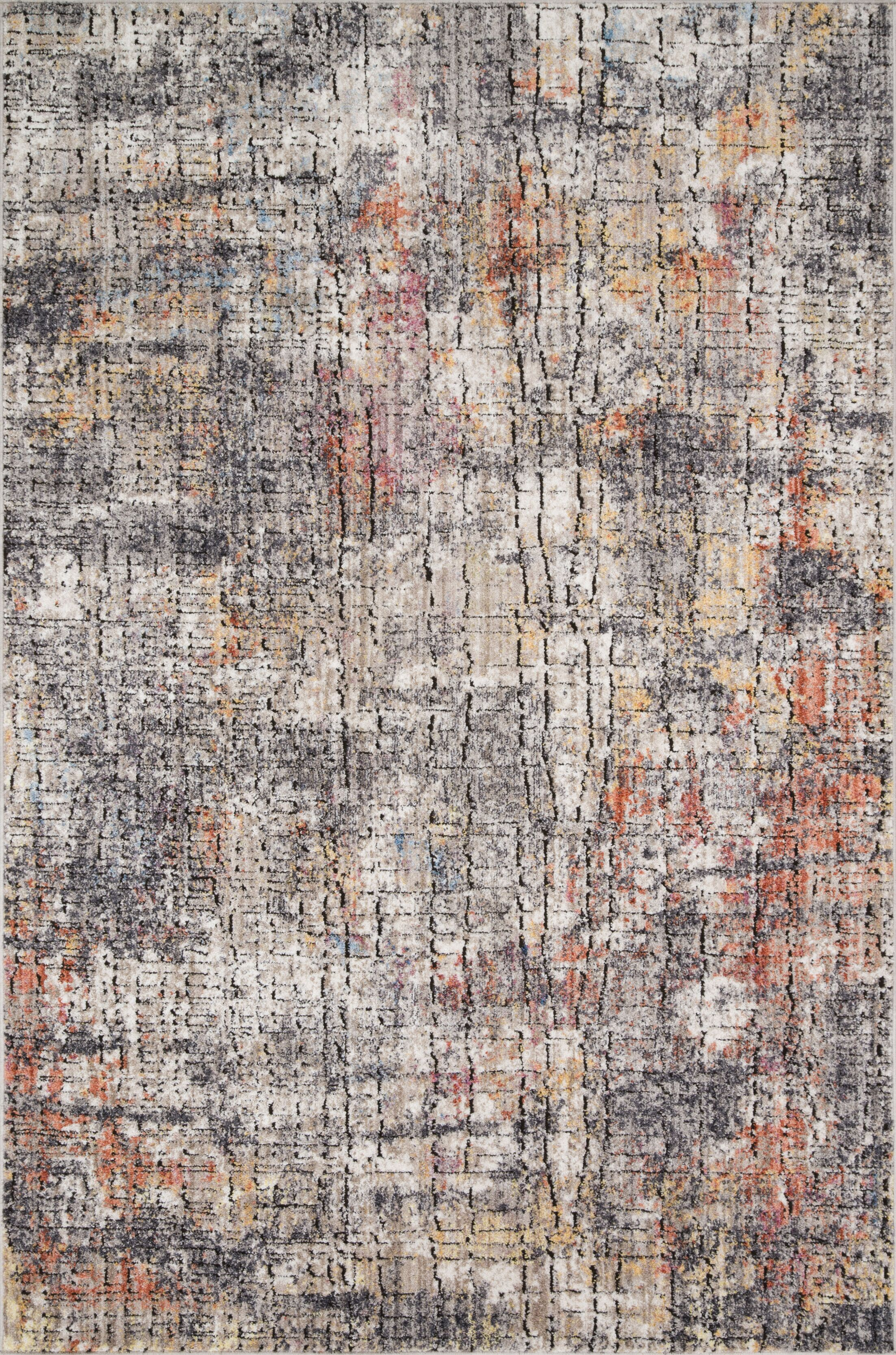Schell Graphite/Sunset Area Rug Rug Size: Rectangle 3'11