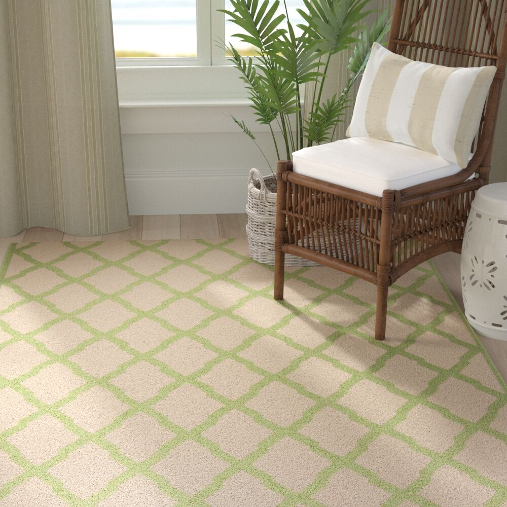Callender Cream/Olive Area Rug Rug Size: Rectangle 8' x 10'