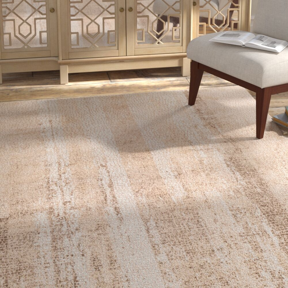 Eakes Distressed Camel/Brown Area Rug Rug Size: Rectangle 5'3