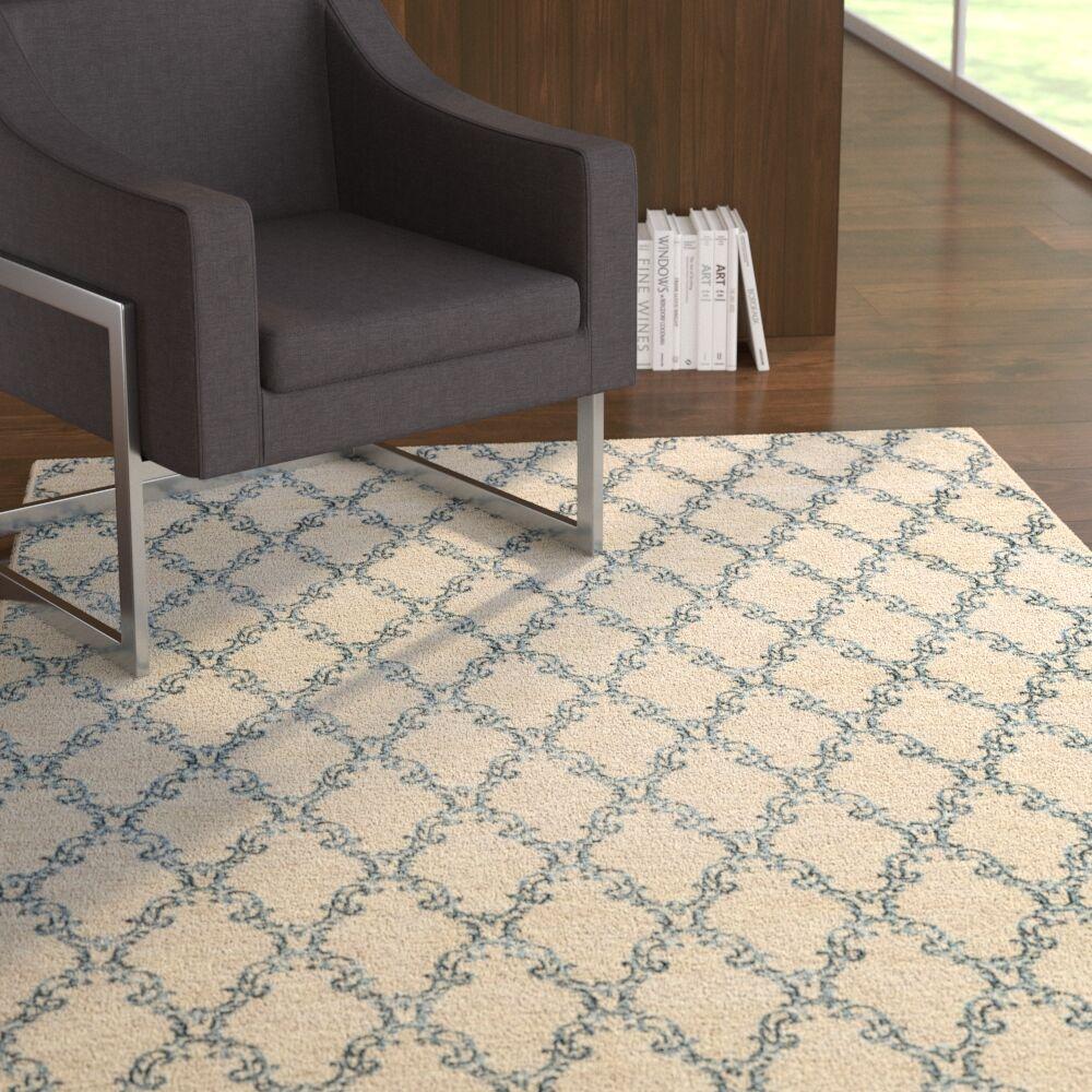 Mcdavid Light Gray/Blue Area Rug Rug Size: Rectangle 5' x 8'