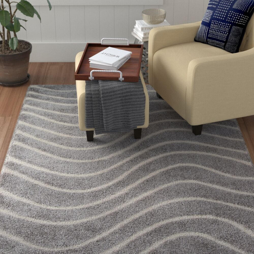 Gravesham Gray Area Rug Rug Size: Rectangle 7'6