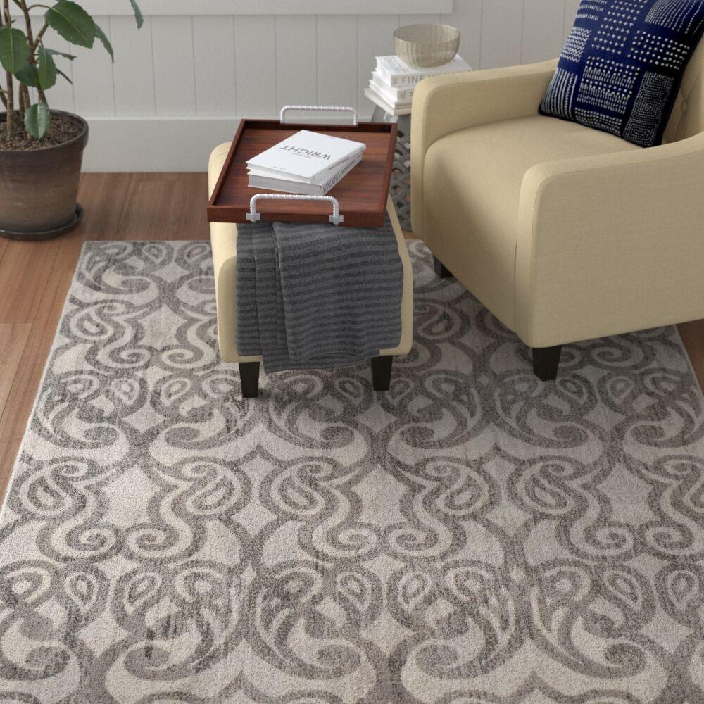 Helfer Taupe/Gray Area Rug Rug Size: Rectangle 7'10