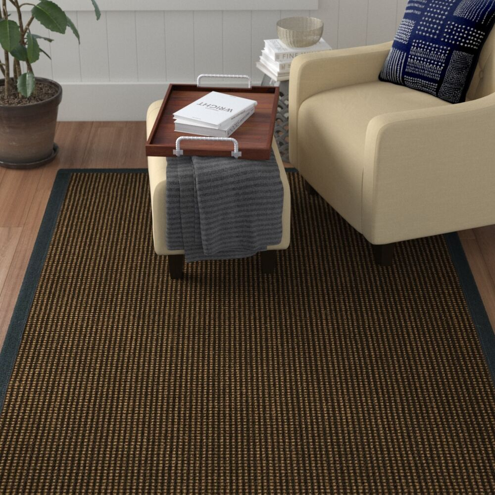 Hedlund Hand Woven Brown Area Rug Rug Size: Rectangle 3' X 5'