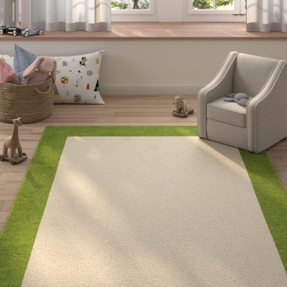 Degen Hand Tufted Wool Olive Green/Beige Area Rug Rug Size: 5' x 8'