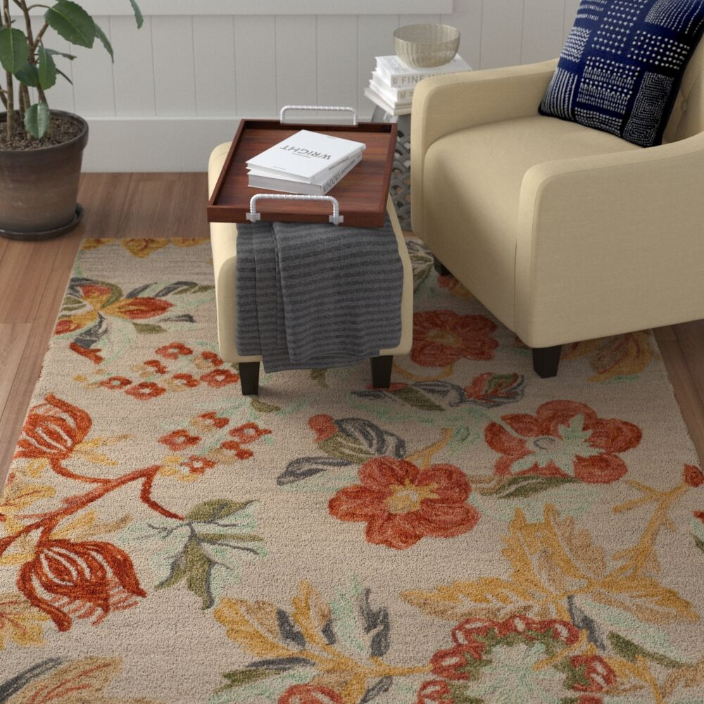 Emrick Hand-Woven Wool Gray/Red Area Rug Rug Size: Runner 2'3