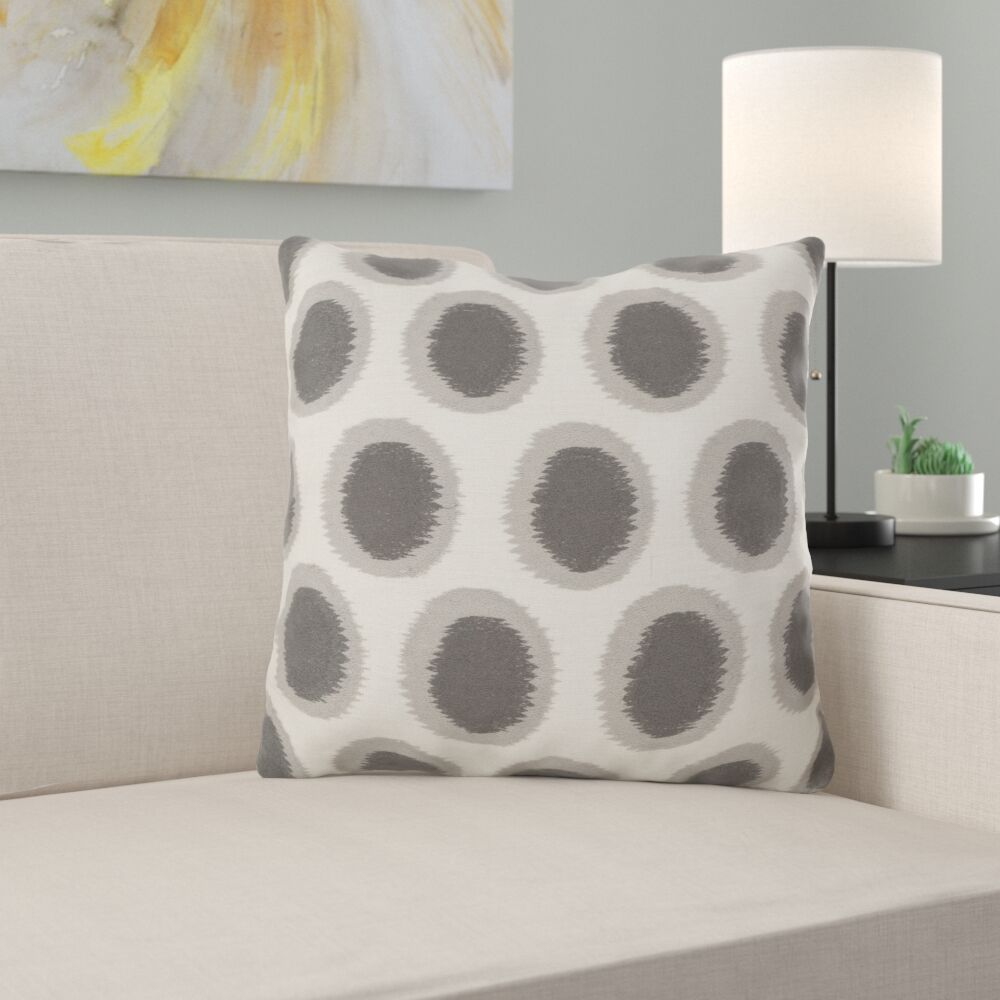 Odis Pretty Polka Dot Linen Throw Pillow Size: 22