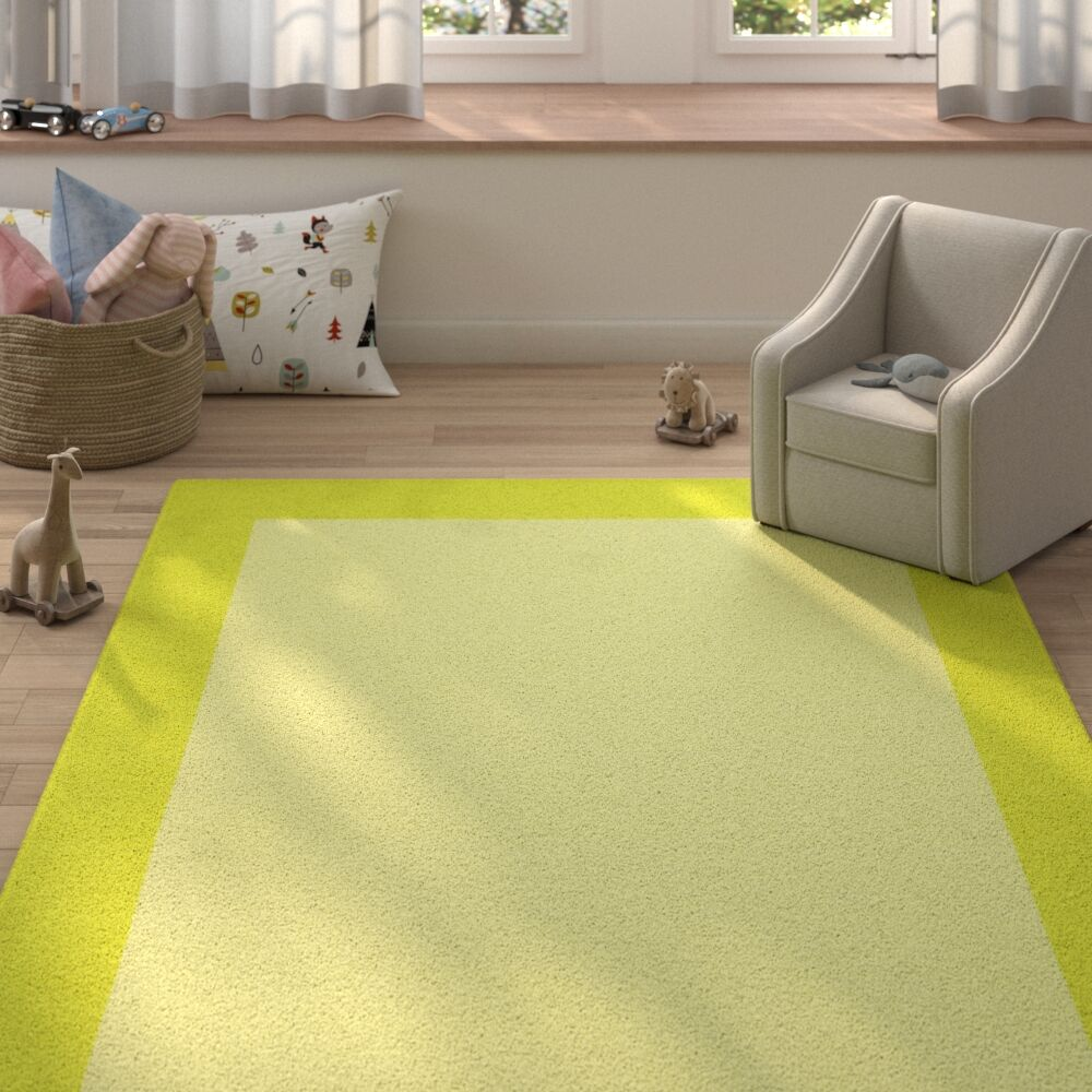 Highlands Hand-Tufted Wool Lime Green/Yellow Area Rug Rug Size: Rectangle 5' X 8'