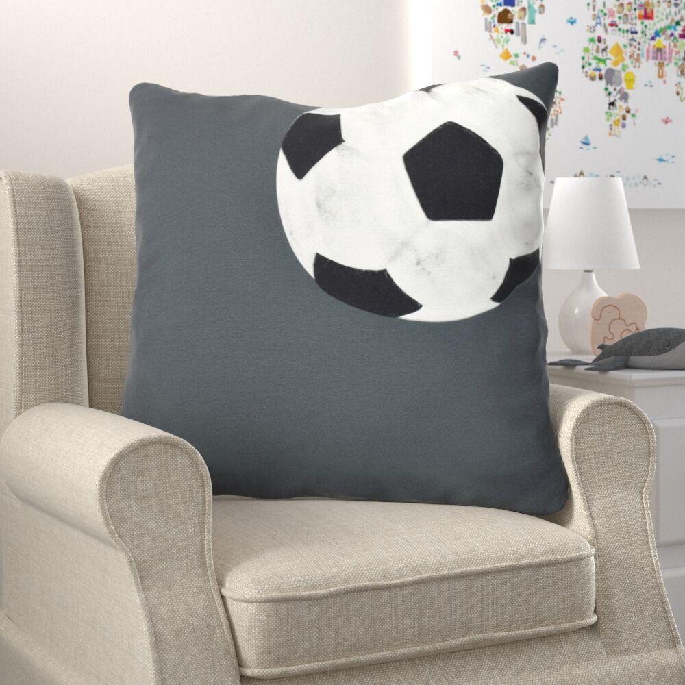Bauer Soccer Bal Throw Pillow Size: 20