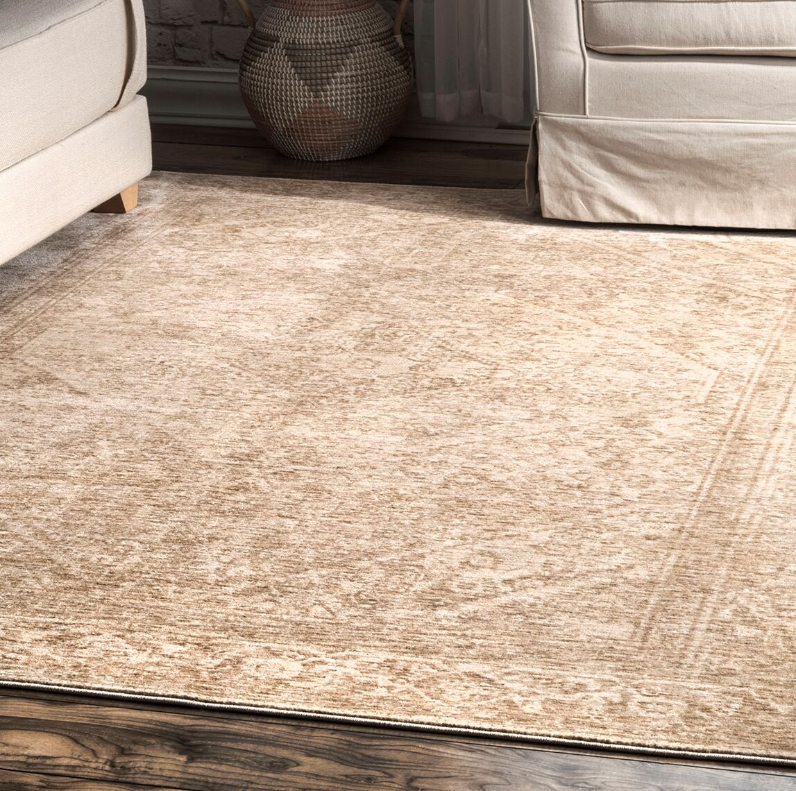Erie Beige Area Rug Rug Size: Rectangle 5' x 8'