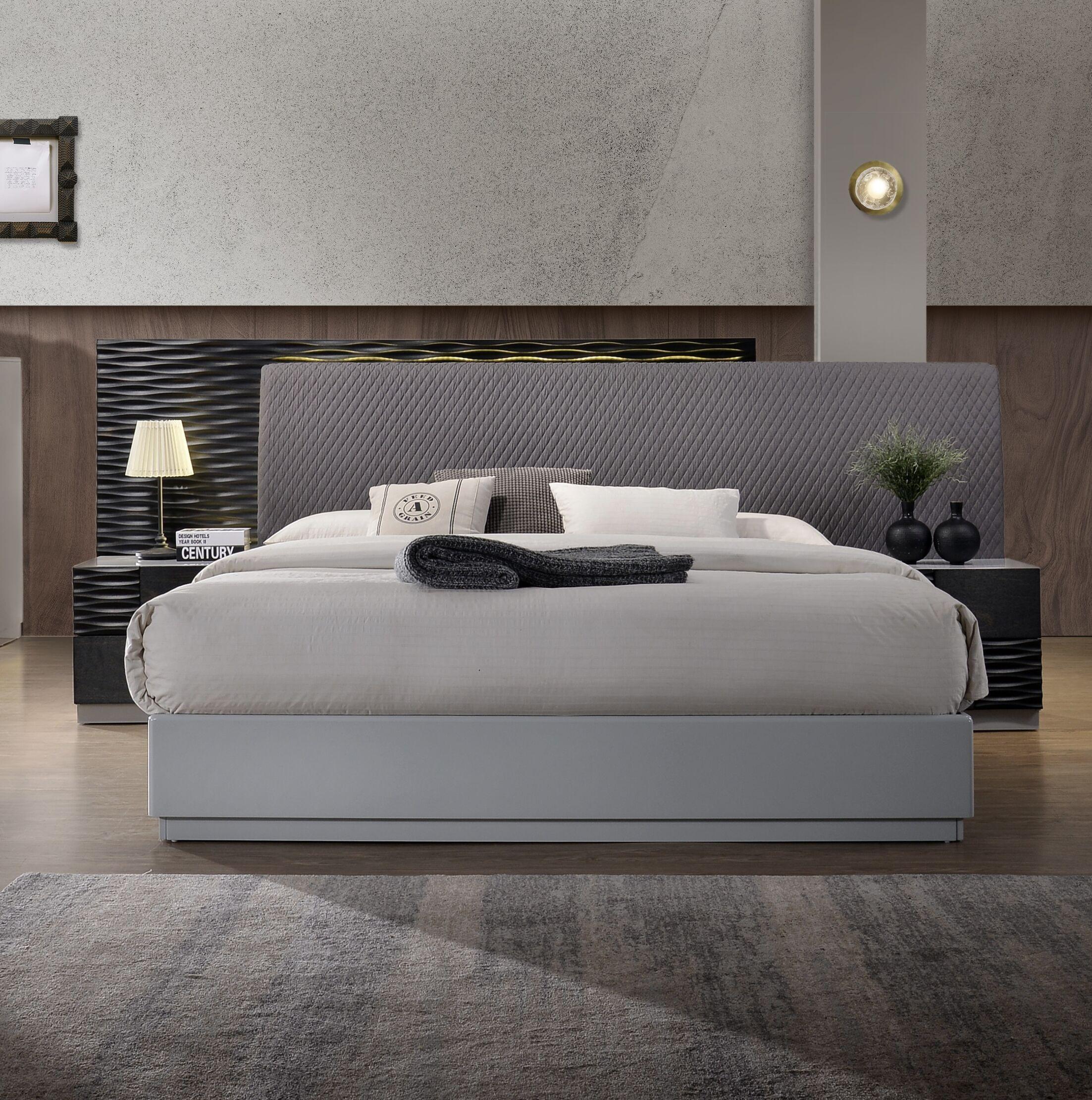 Bernice Upholstered Platform Bed Size: King