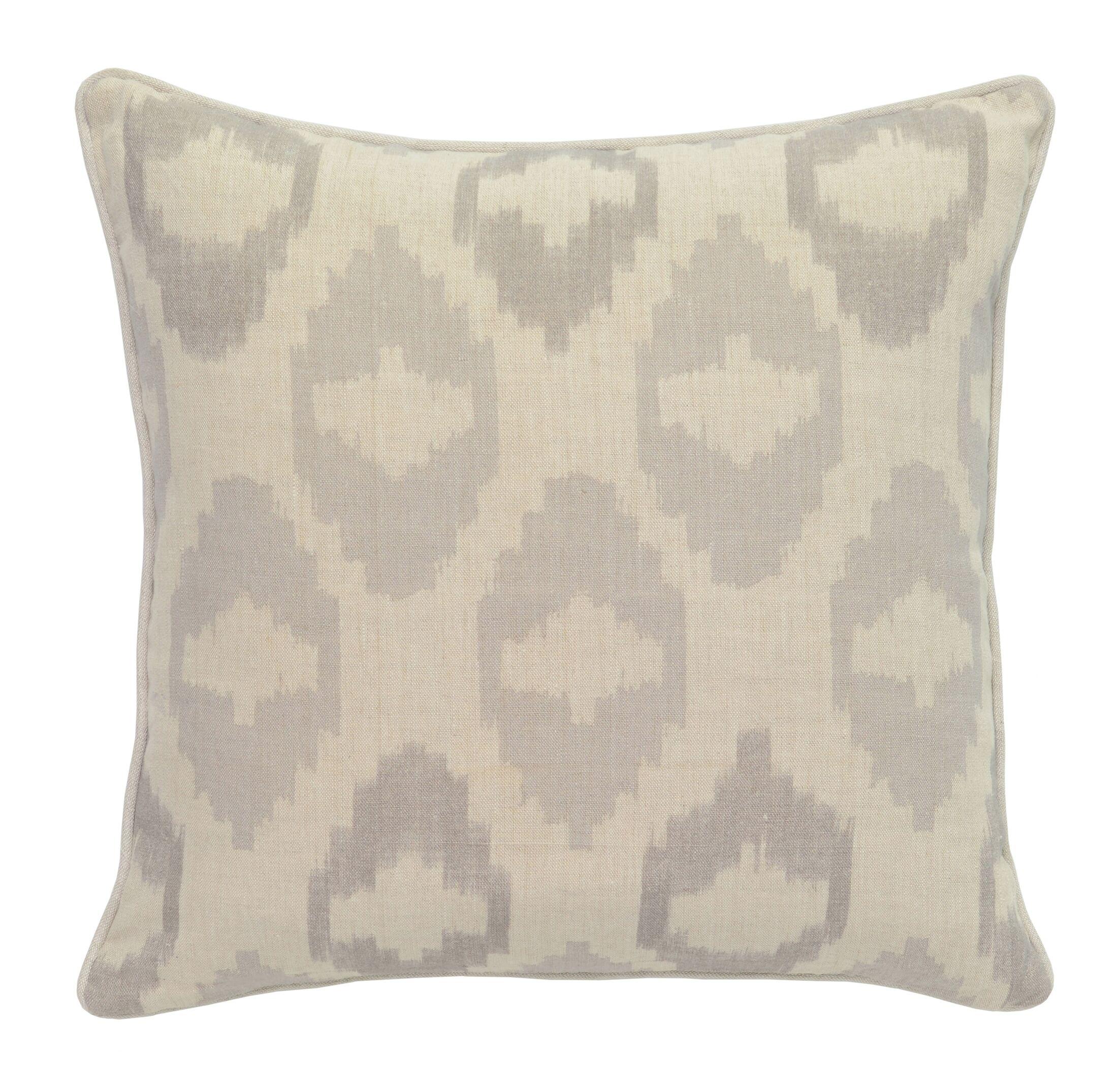 Goldberg 100% Linen Throw Pillow Color: Gray