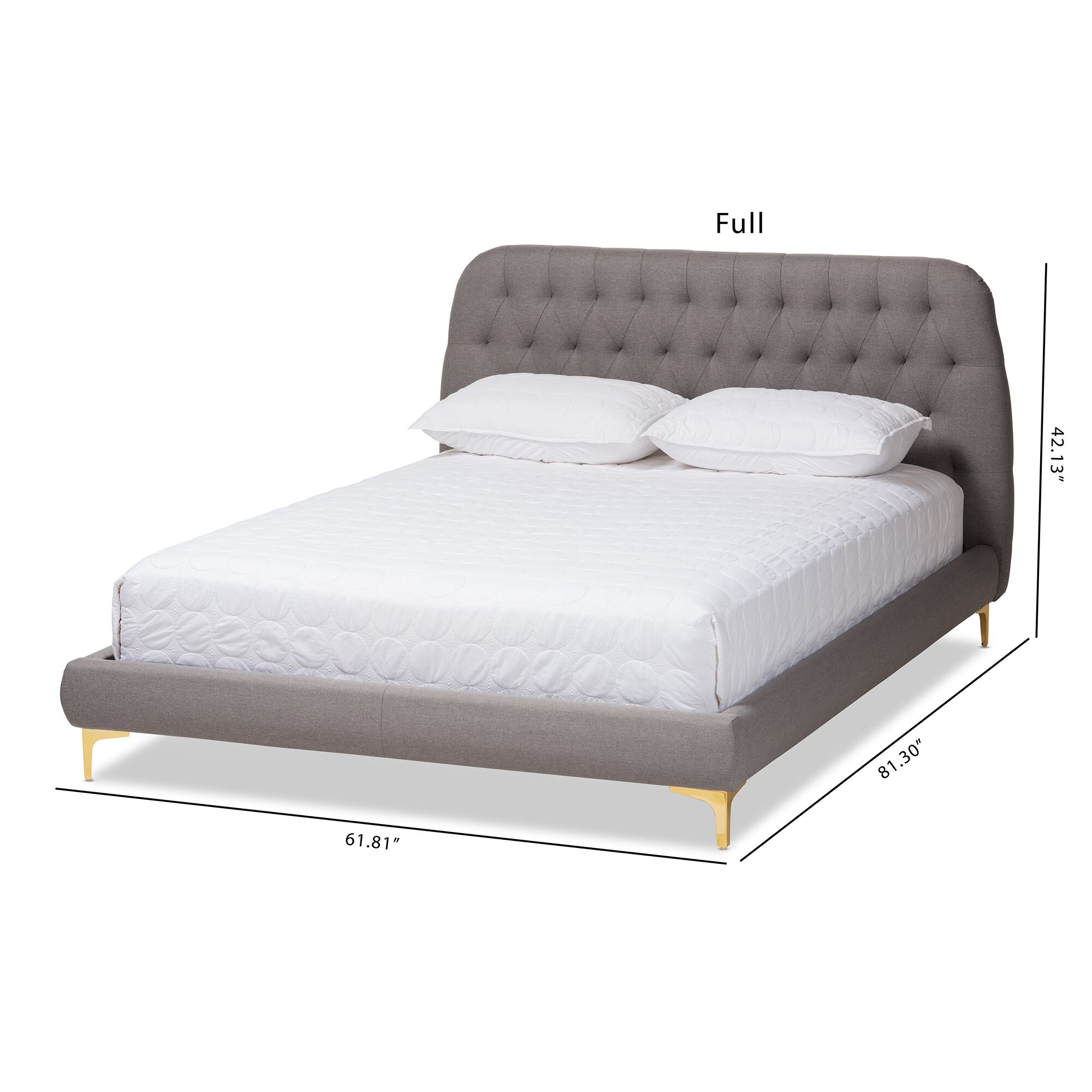 Commer Upholstered Platform Bed Size: Full, Color: Light Gray