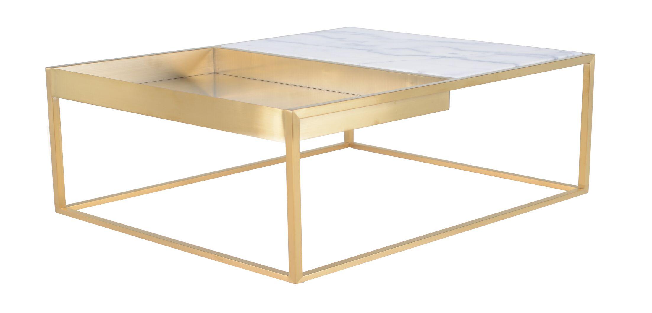 Fareham Coffee Table Color: White/Gold
