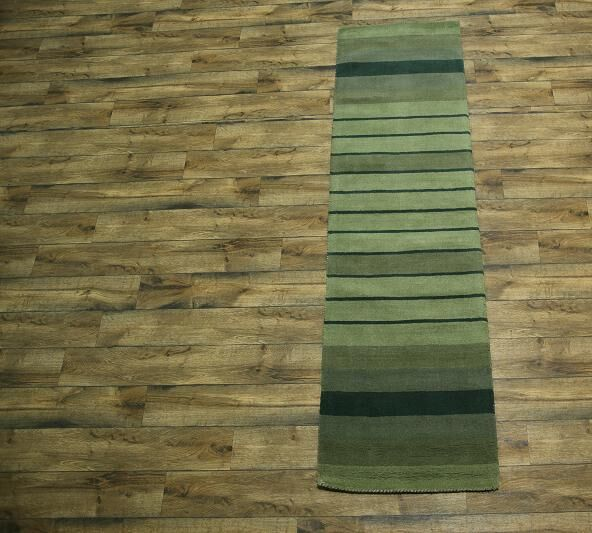 One-of-a-Kind Seidman Oriental Hand-Tufted Wool Green Area Rug