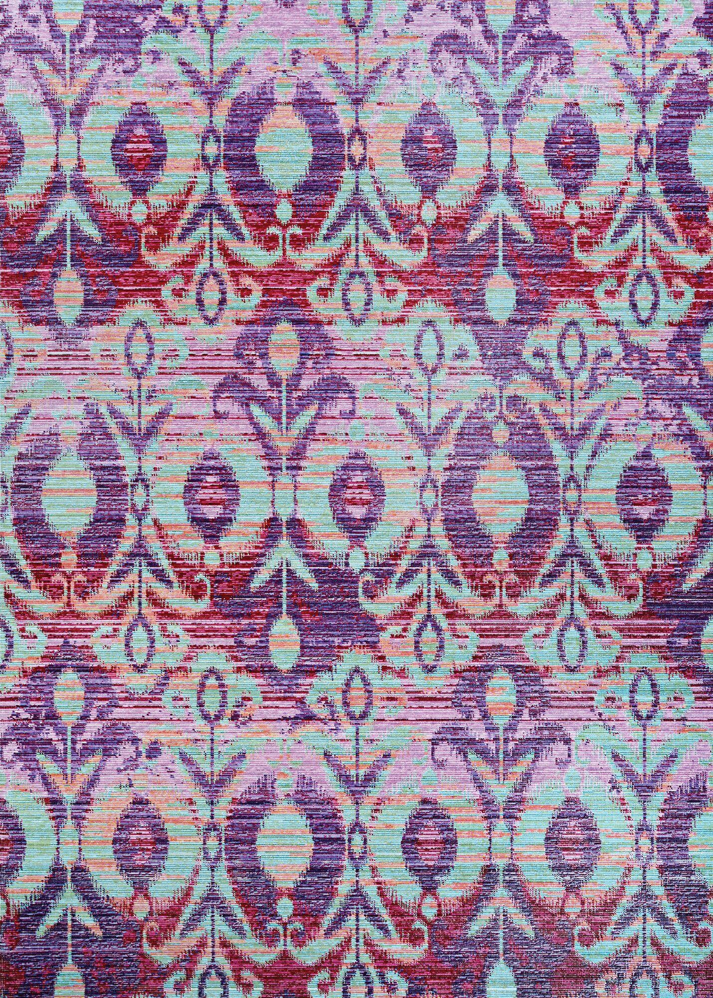 Beyer Purple Indoor/Outdoor Area Rug Rug Size: Round 7'2