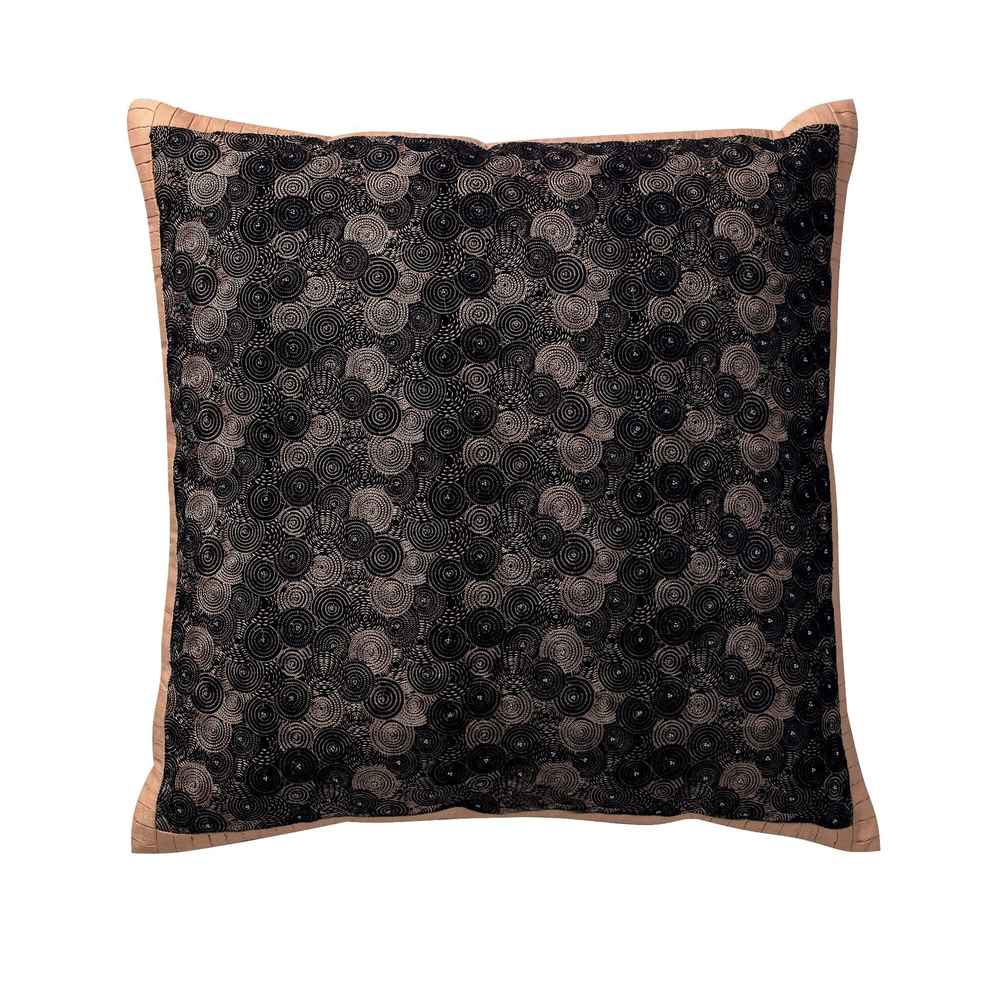 Syrna Deco Cotton Throw Pillow Color: Black