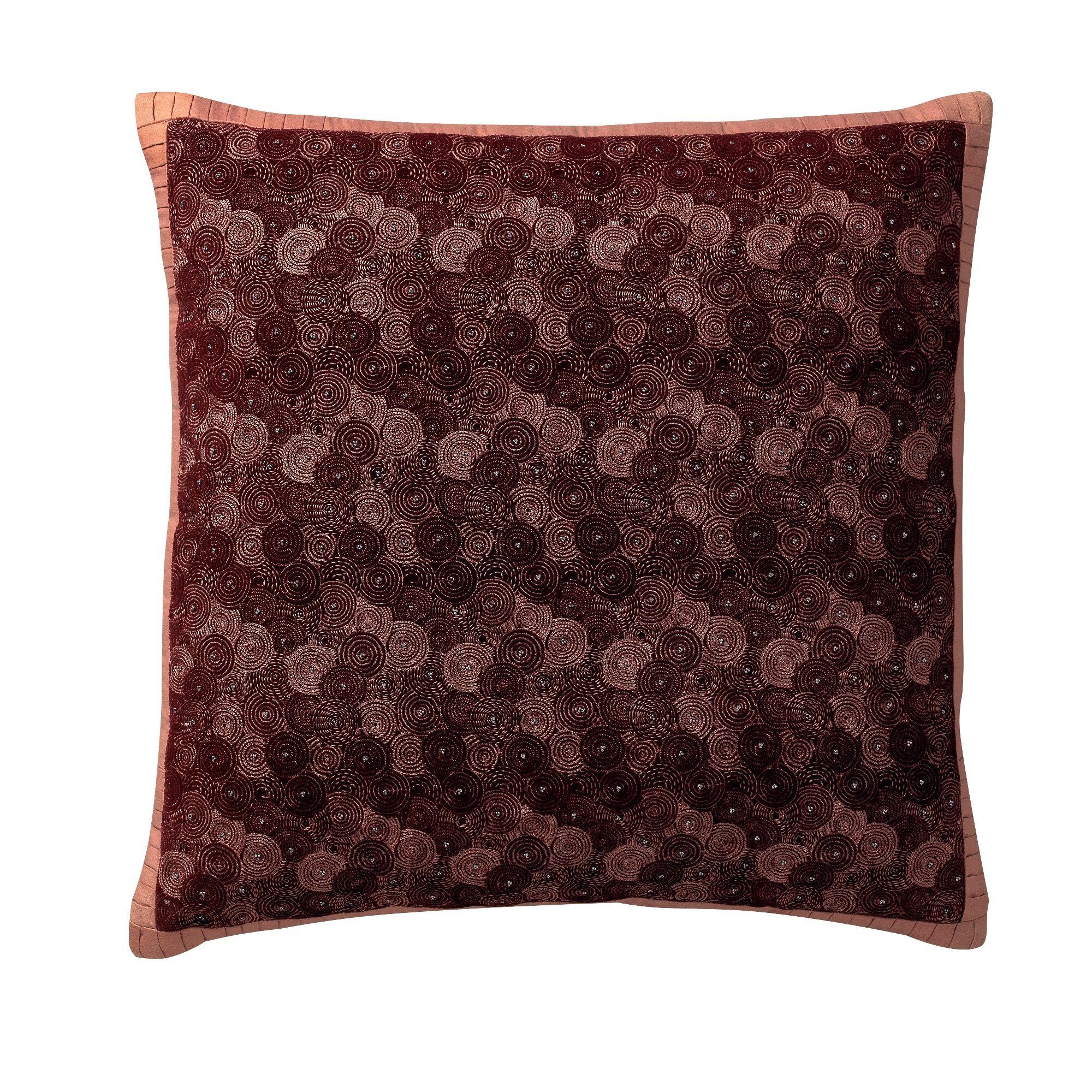 Syrna Deco Cotton Throw Pillow Color: Blackberry