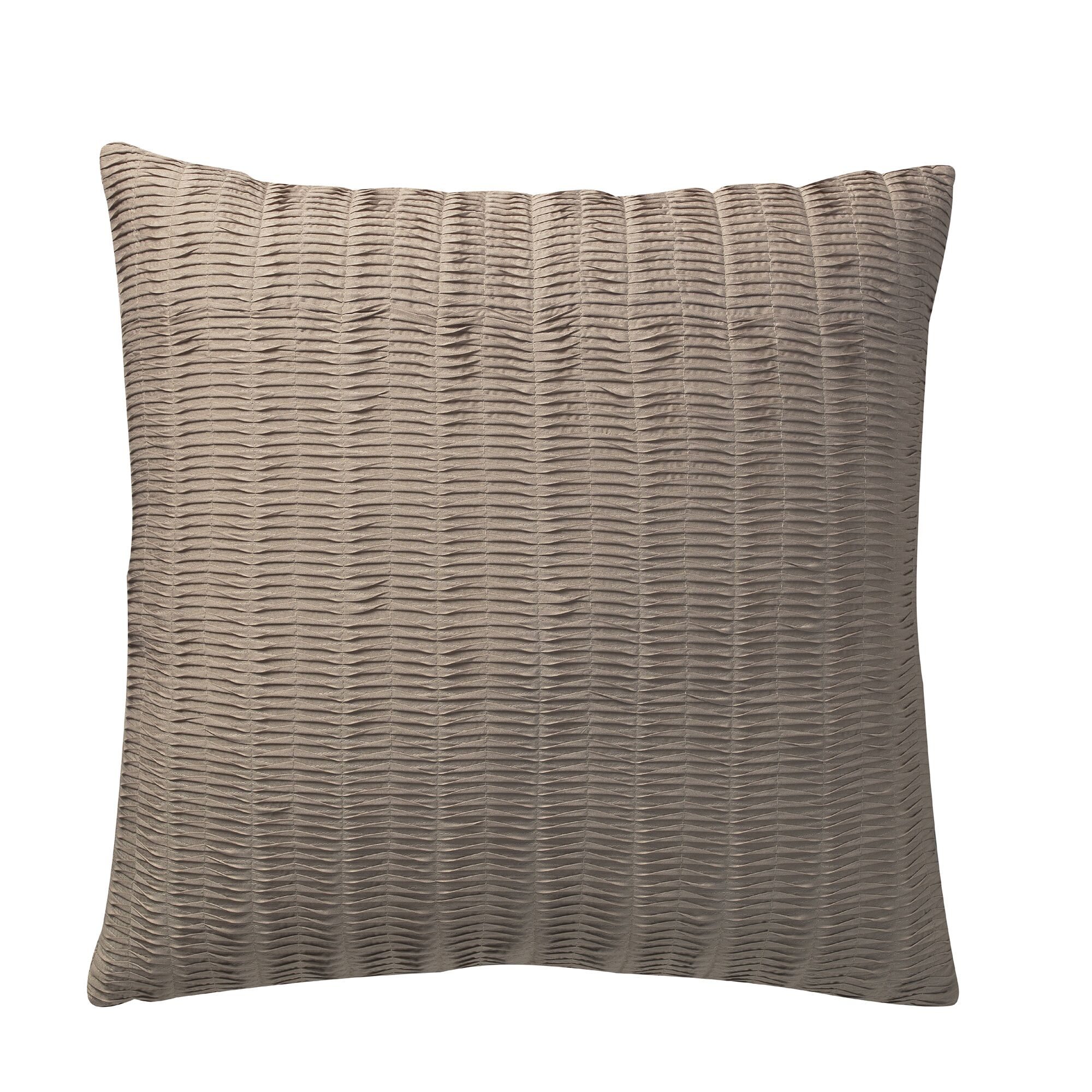 Jovanny Pleated Deco Throw Pillow Color: Beige
