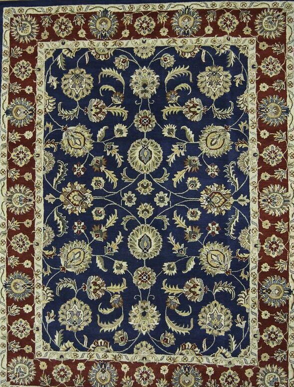 One-of-a-Kind Bovill Oriental Hand-Tufted Wool Blue Area Rug