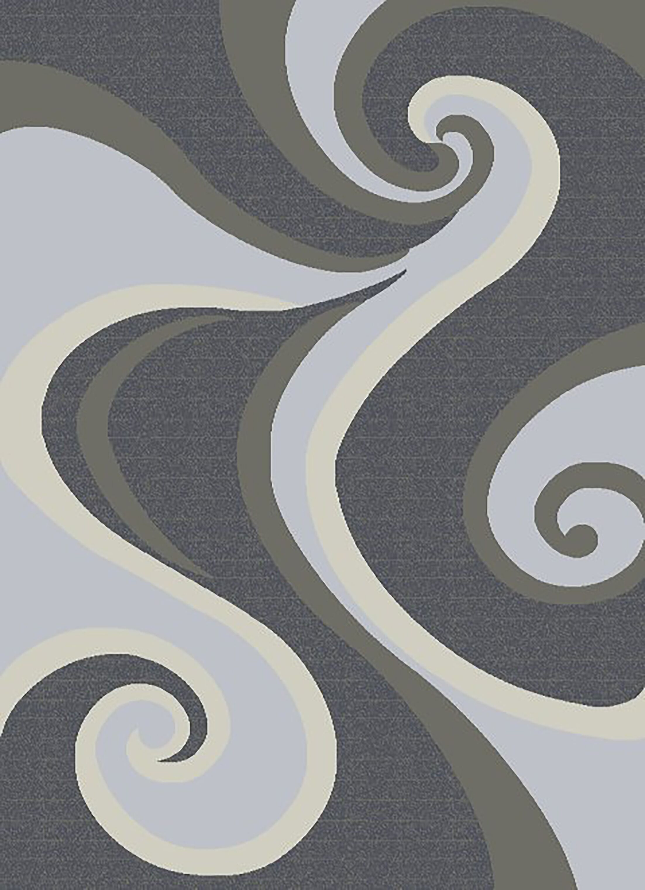 Mccampbell 3D Gray/Silver Area Rug Rug Size: Rectangle 5'2