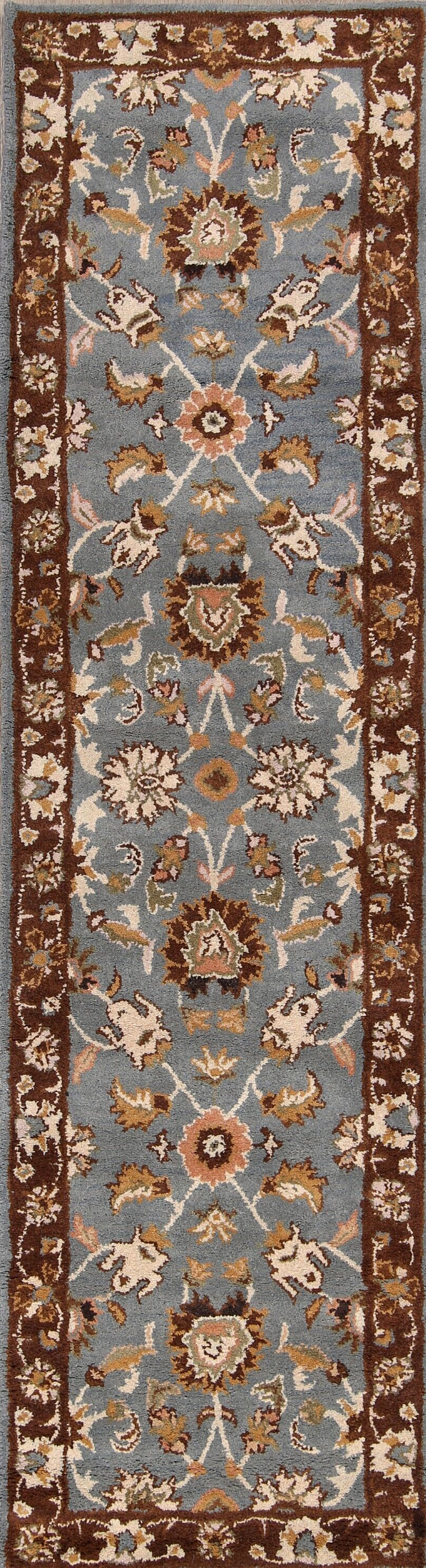 Ailsa Kashan Agra Oriental Hand-Tufted Wool Gray Area Rug