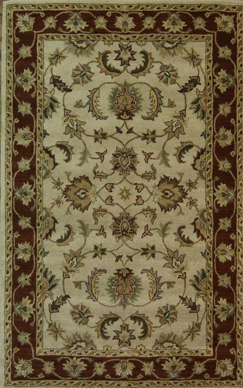 One-of-a-Kind Bovill Oriental Hand-Tufted Wool Beige Area Rug