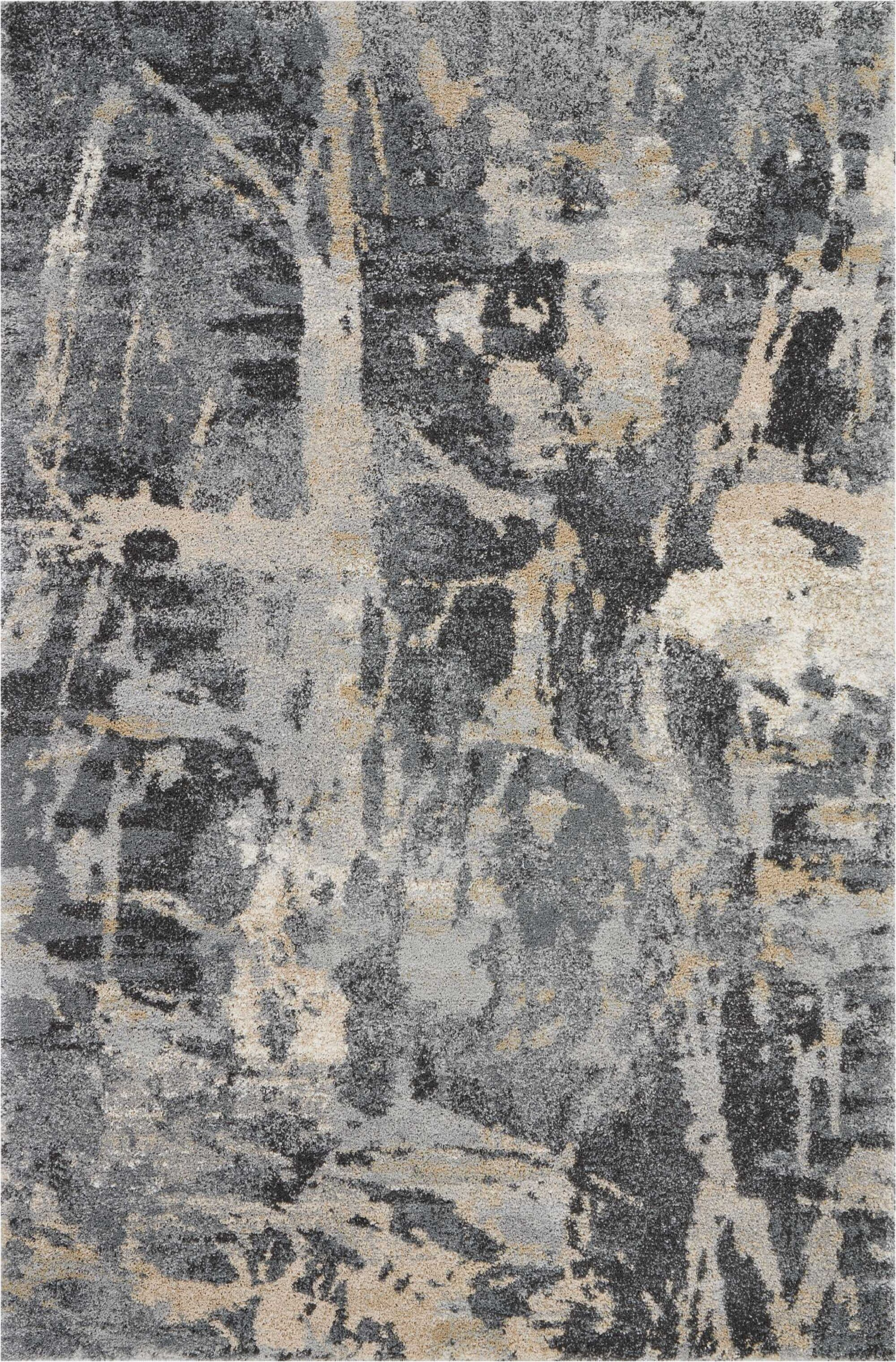 Bellock Abstract Gray/Beige Area Rug Rug Size: Rectangle 4' x 6'