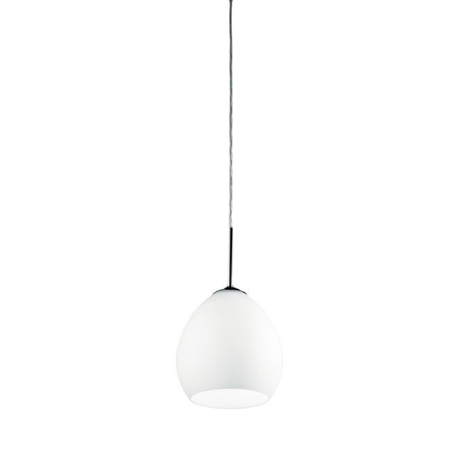 Golf 1-Light Mini Pendant Finish: Polished Chrome, Shade Color: Satin White