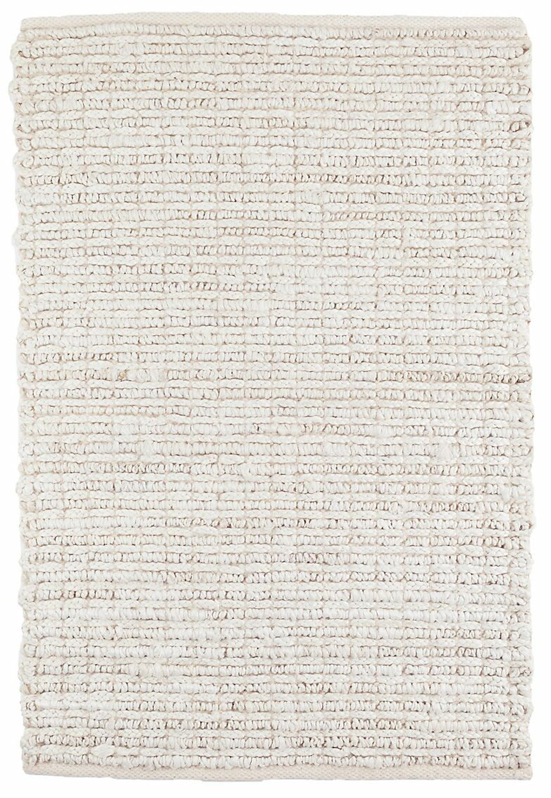Dunes Bleached Oak Woven Hand-Knotted Ivory Area Rug Rug Size: Runner 2'6