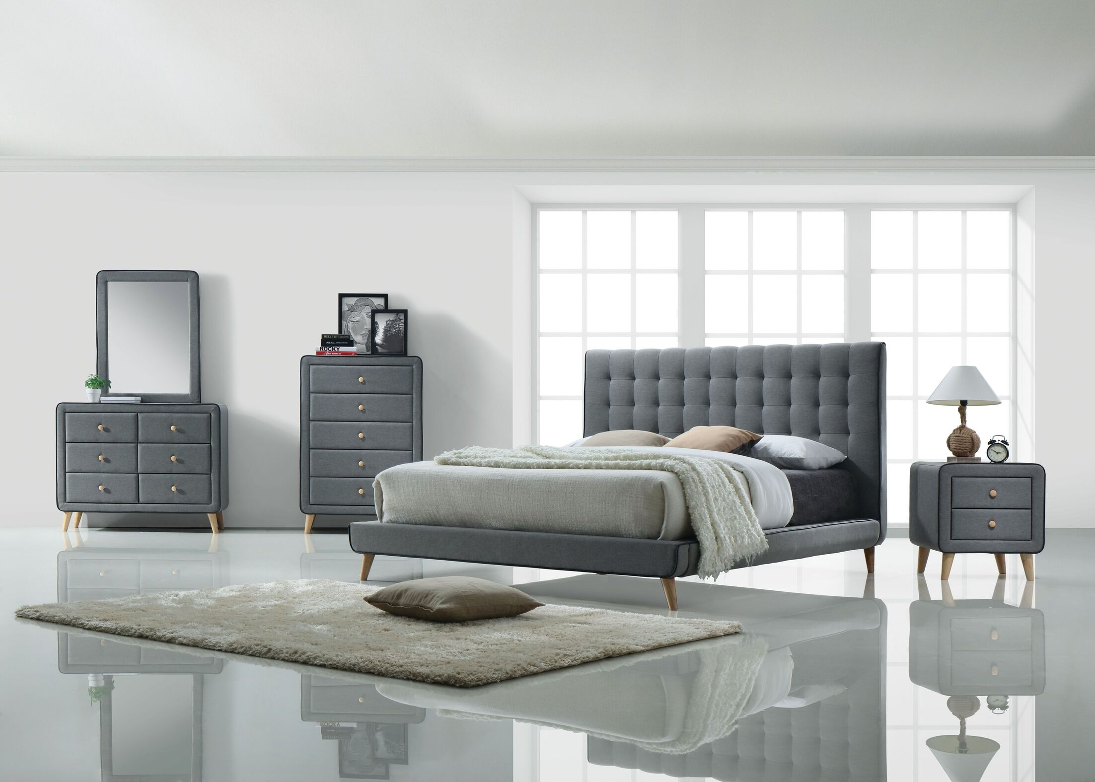 Lonan Panel Configurable Bedroom Set