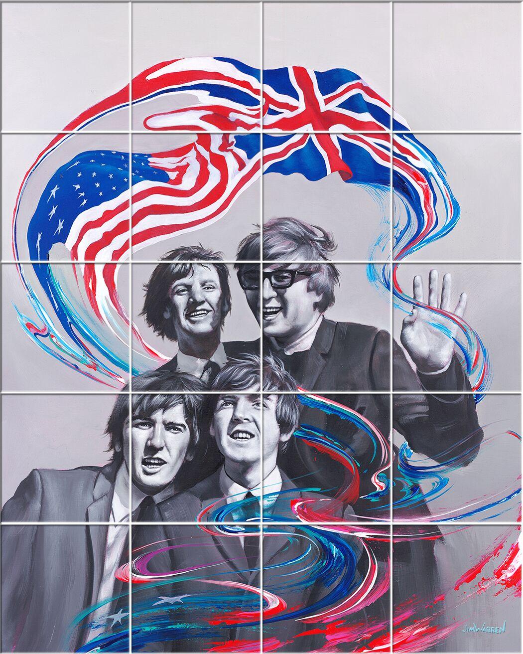 'British Invasion' Oil Painting Print Multi-Piece Image