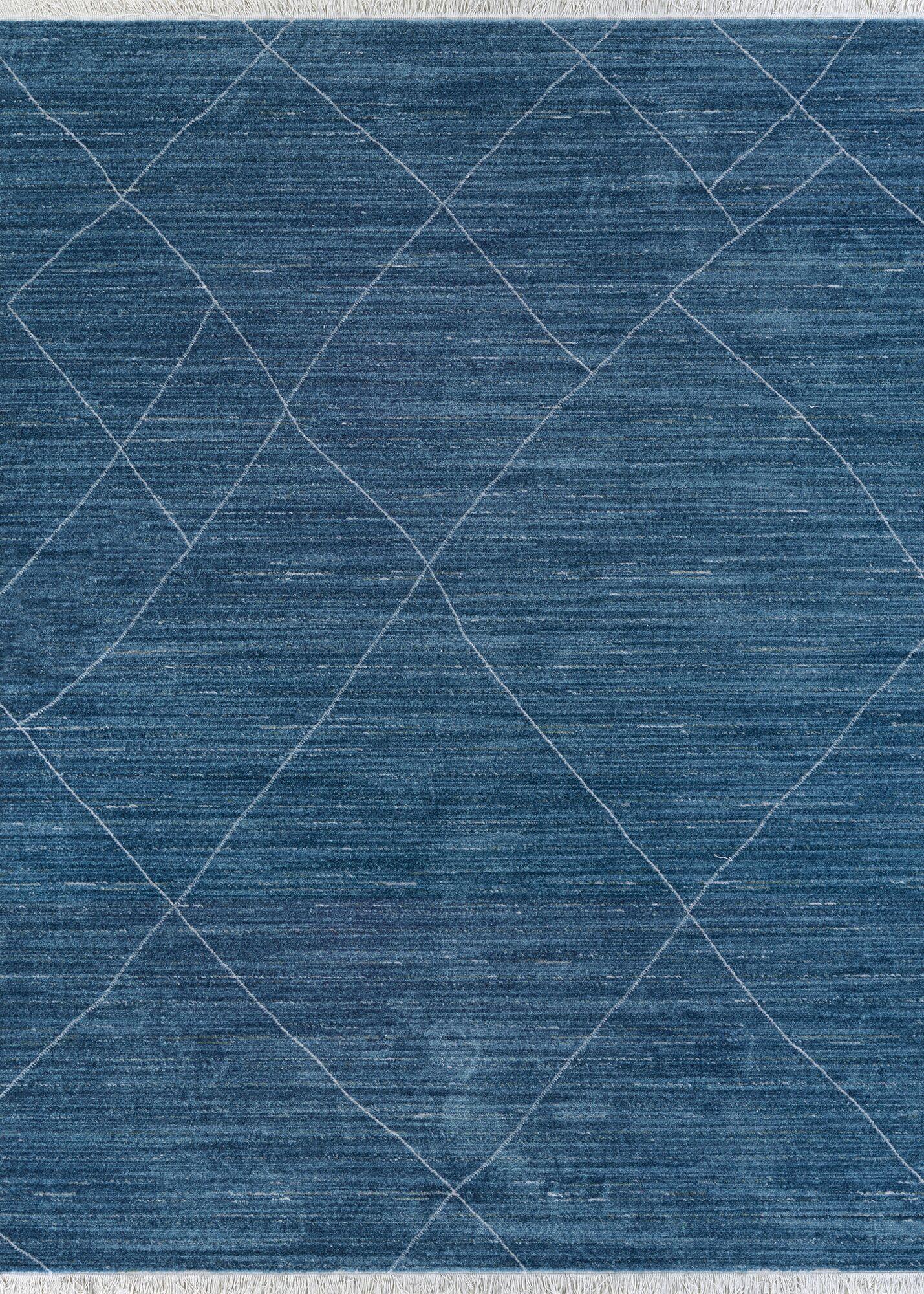 Jarred Blue Area Rug Rug Size: Rectangle 5'3