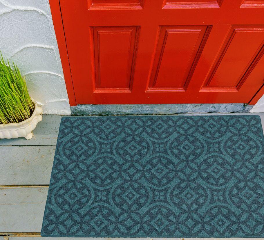 Merrill Trellis Turquoise Area Rug Rug Size: Rectangle 5' x 8'