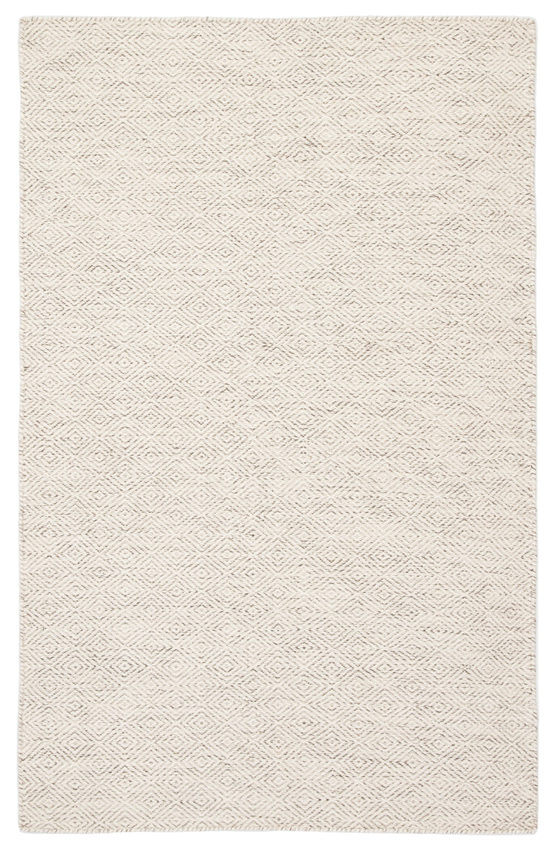 Doyle Handwoven Flatweave Wool Ivory Area Rug Rug Size: Rectangle 7'10