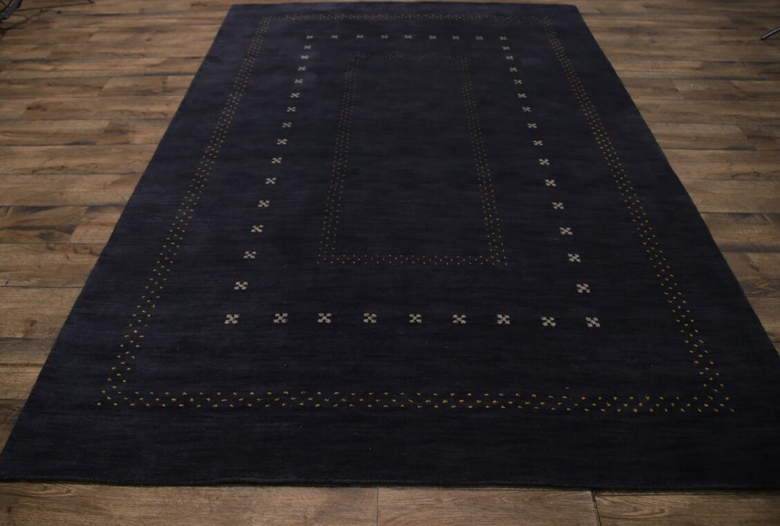 One-of-a-Kind Seidman Oriental Hand-Woven Wool Black Area Rug