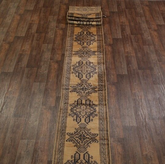 One-of-a-Kind Bovill Turkish Oriental Hand-Knotted Wool Green Area Rug