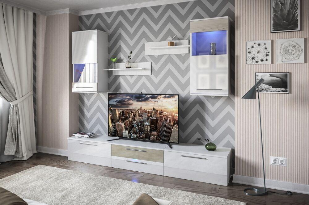 German Entertainment Center Color: White