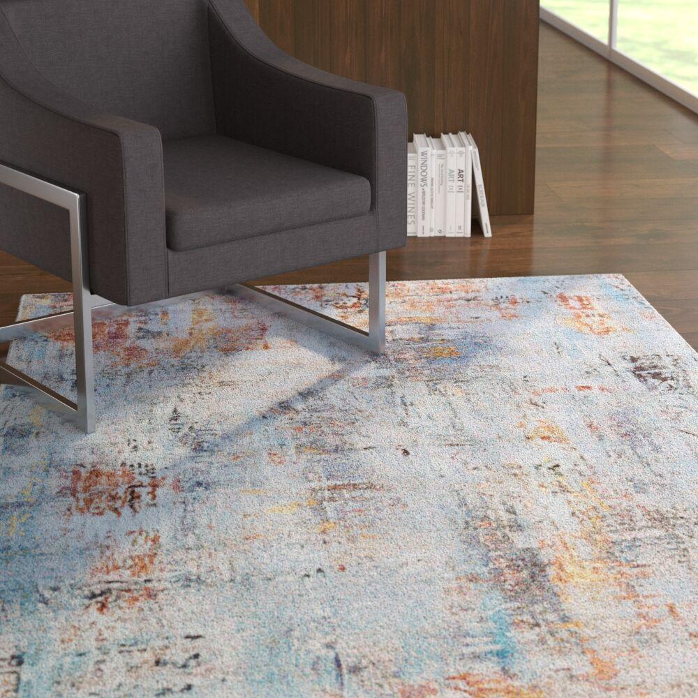 Goris Blue/Orange Area Rug Rug Size: Rectangle 5'3