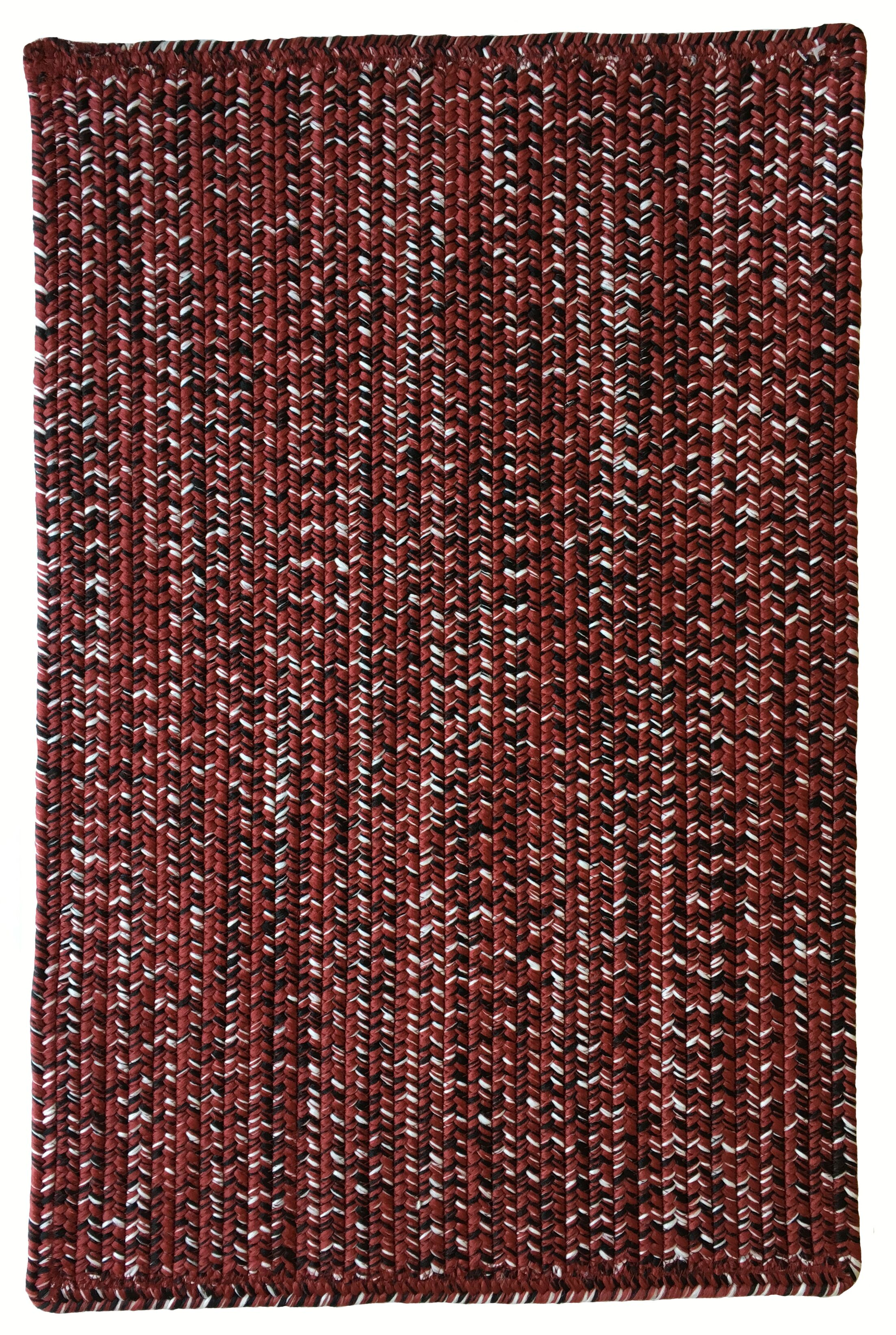 One-of-a-Kind Aukerman Hand-Braided Burgundy Indoor/Outdoor Area Rug Rug Size: Runner 2'3