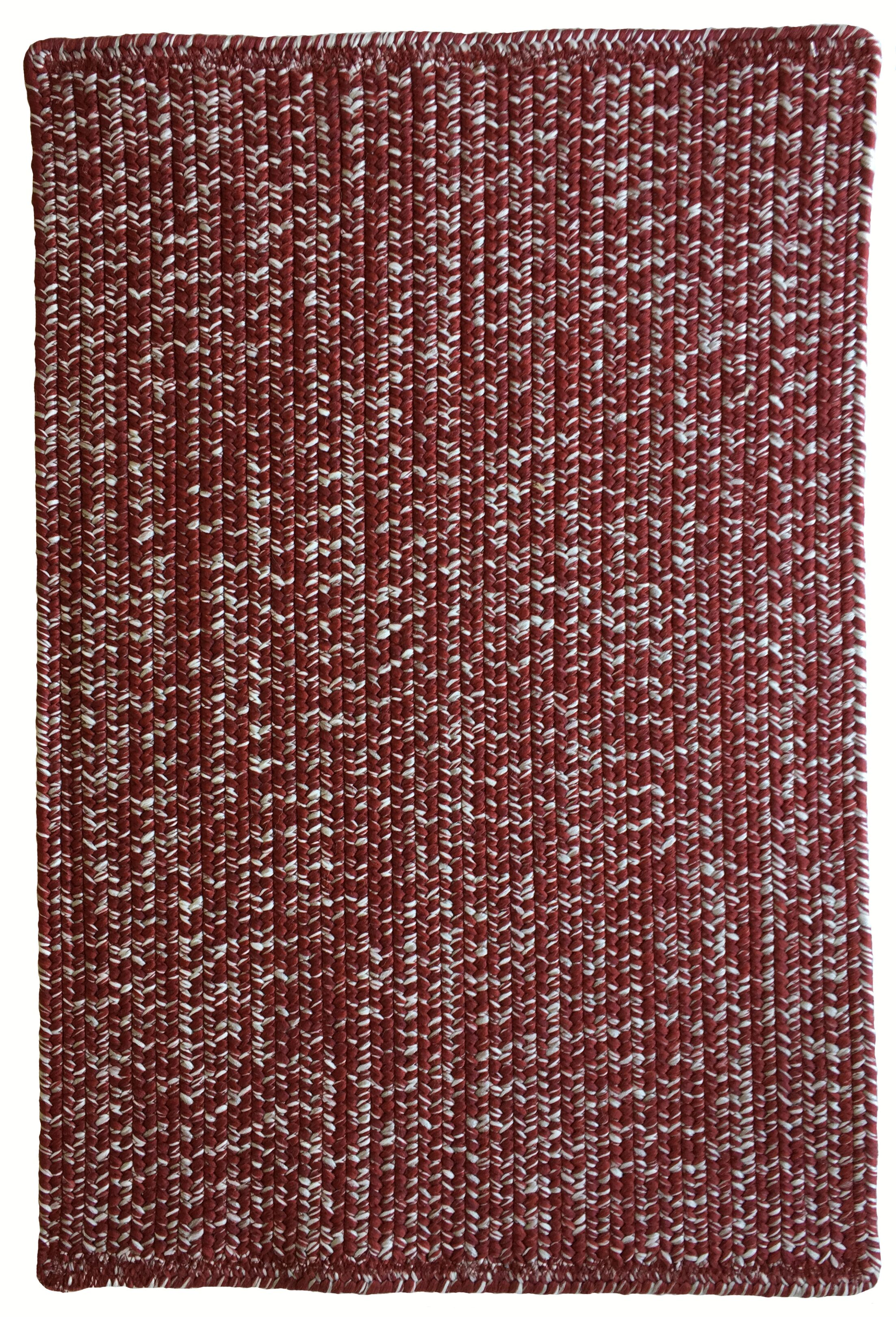 One-of-a-Kind Aukerman Hand-Braided Red/Gray Indoor/Outdoor Area Rug Rug Size: Rectangle 9'2