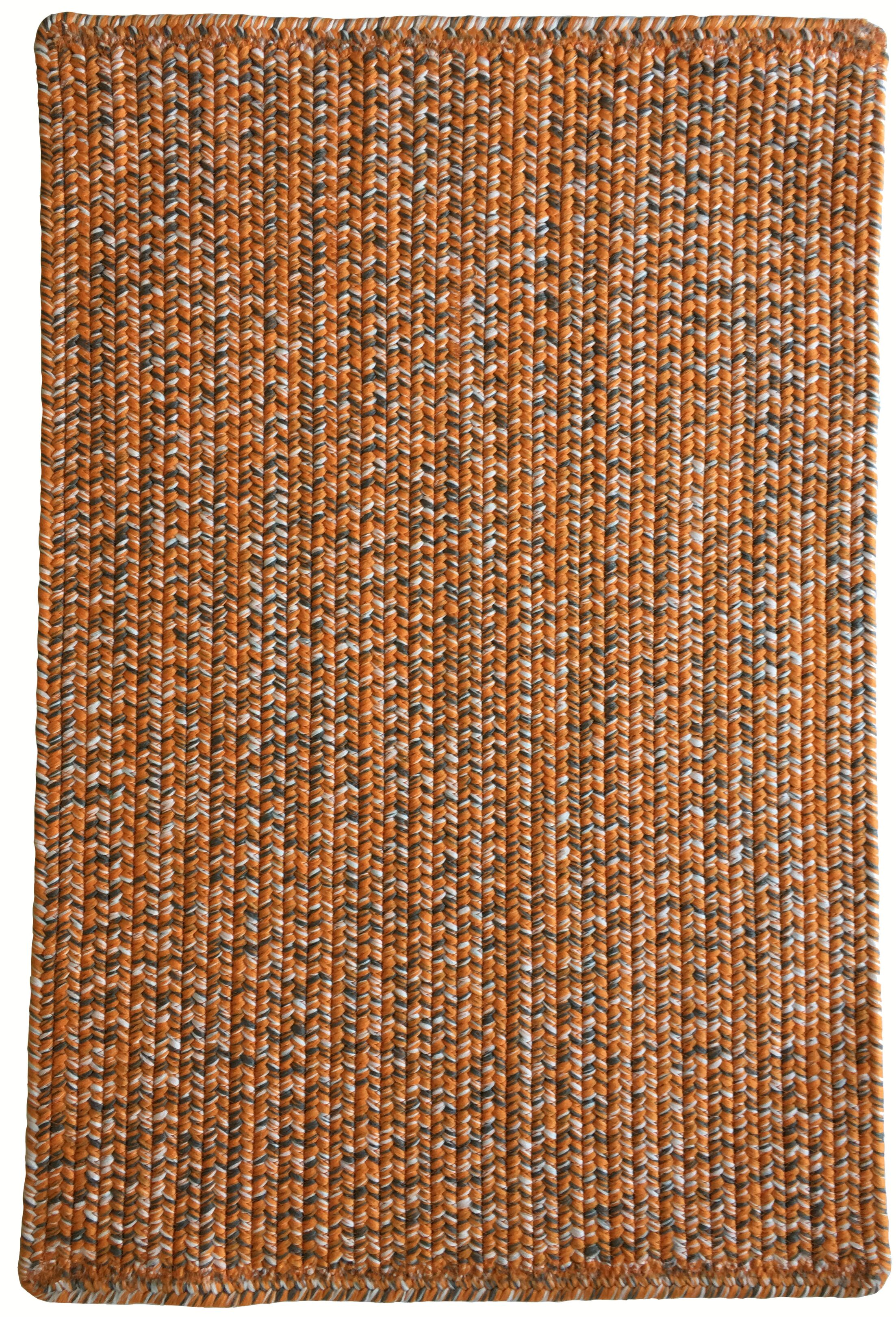 One-of-a-Kind Aukerman Hand-Braided Orange/Gray Indoor/Outdoor Area Rug Rug Size: Rectangle 7' x 9'