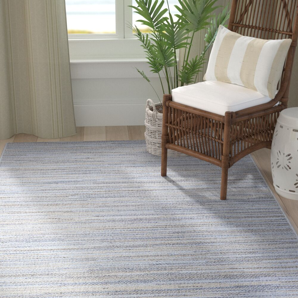 Lorenzo Taupe/Champagne/Blue Indoor/Outdoor Area Rug Rug Size: Rectangle 7'6